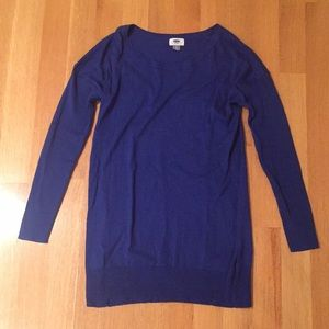Comfortable deep blue sweater
